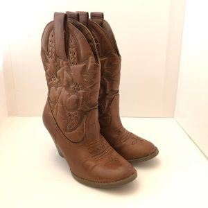 Mossimo Women Boots Brown Size 6.5